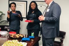 Kendall Capital enjoyed hosting a happy hour to  get to know other employees in the building.